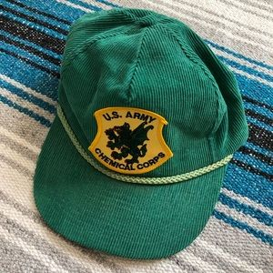 Vintage US Army Chemical Corps Corduroy Hat